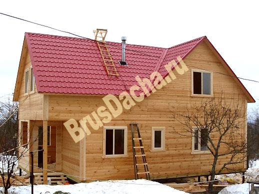 Дом в деревне по индивидуальному проекту