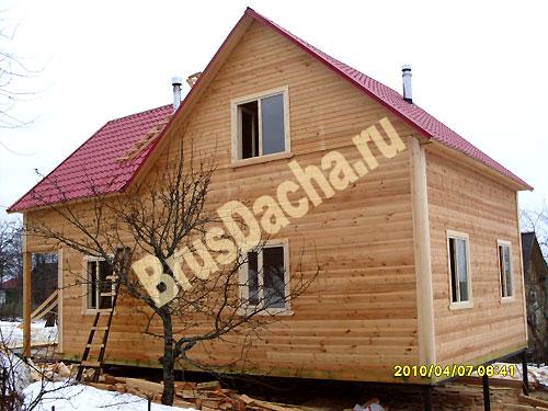 Дом из профилированного бруса по проекту клиента