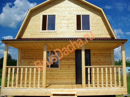 Построили дом из бруса в деревне Чирково в близи г. Кириши