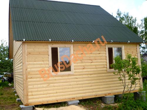 Небольшой дом из профилированного бруса